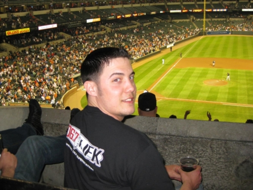 2008-Travis at the game